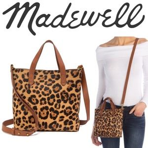 Madewell Transport Bag Leopard Print Calf Hair